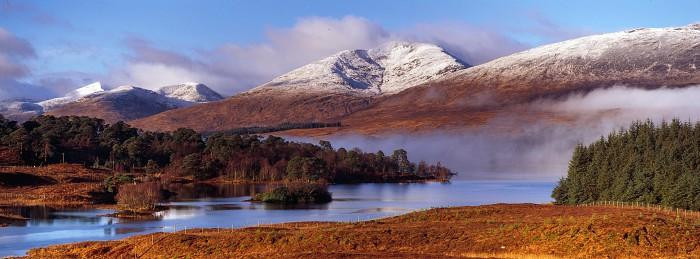 Stob Ghabhar. Loch Tulla. Hasselblad XPan 90mm. December 2017.
