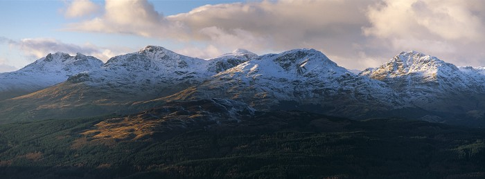 The Arrochar Alps. December 2012. Hasselblad XPan 90mm.