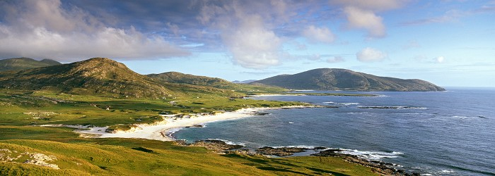 The West coast of Barra, Outer Hebrides. August 2009. Hasselblad XPan 45mm