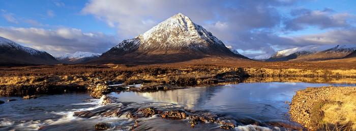 Buachaille Etive Mor, Highland. February 2013. Hasselblad XPan 30mm.
