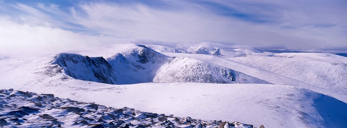 Coire an t-Sneachda, Cairn Gorm. March 2009. Hasselblad Xpan 45mm.