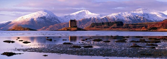 Castle Stalker, Loch Linnhe, December 2009. Hasselblad Xpan 45mm.