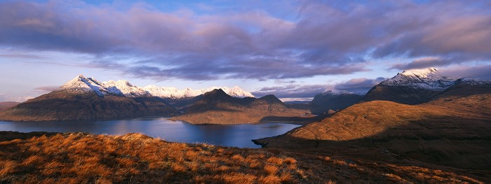 The Skye Cuillin, Isle of Skye, January 2008. Hasselblad XPan 90mm.
