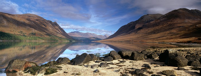 Loch Etive, Argyll and Bute. September 2010. Hasselblad XPan 45mm.
