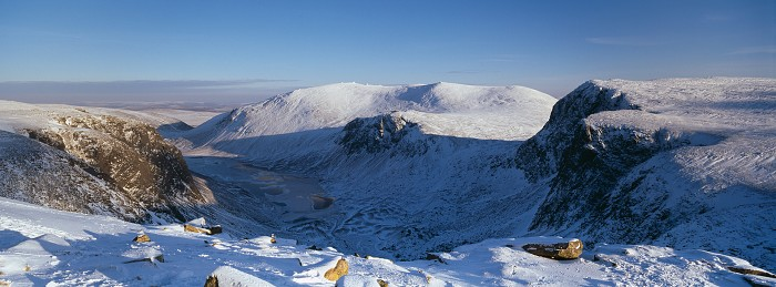 Beinn Mheadhoin, Loch Avon, The Cairngorms. February 2012. Hasselblad XPan 30mm.