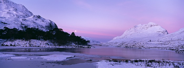 Loch Clair, Glen Torridon. February 2010. Hasselblad Xpan 45mm.
