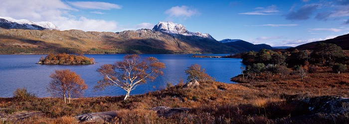 Slioch, Loch Maree. October 2008. Hasselblad XPan 30mm.
