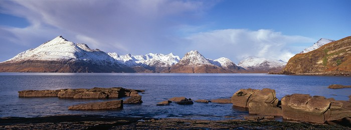 The Cuillin from Elgol, Isle of Skye. December 2009. Hasselblad Xpan 45mm
