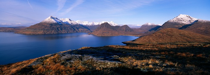 Loch Scavaig, Isle of Skye. January 2008. Hasselblad Xpan 45mm.