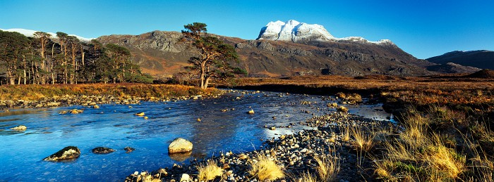 Slioch and The River Grudie. Torridon. January 2016. Hasselblad XPan 30mm.