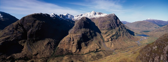 The Three Sisters, Glen Coe. May 2009. Hasselblad XPan 30mm