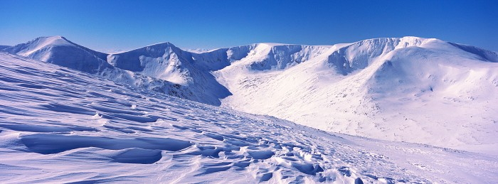 Braeriach. The Cairngorms. Hasselblad XPan 45mm. March 2018.
