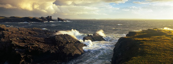 Bay of Clachtoll, Clachtoll. Hasselblad XPan 45mm. October 2014