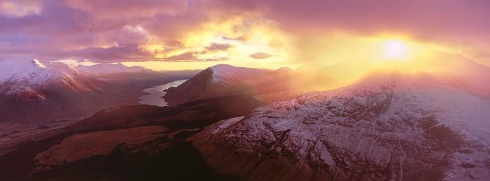 Glen Etive Sunset. Hasselblad XPan 45mm. February 2016.