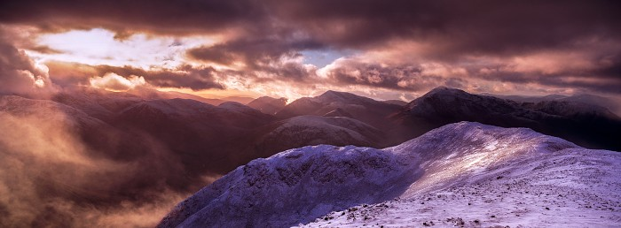 Clearing Storm. Glen Coe. Hasselblad XPan 30mm. December 2017.