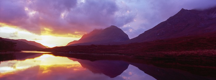 Loch Clair Sunset. Scottish Landscape Photography
