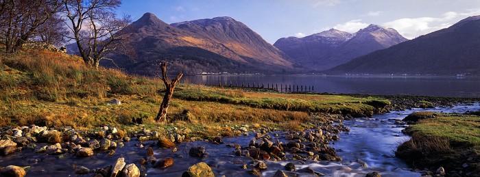 Sgùrr na Cìche and Bidean nam Biam, Loch Leven.