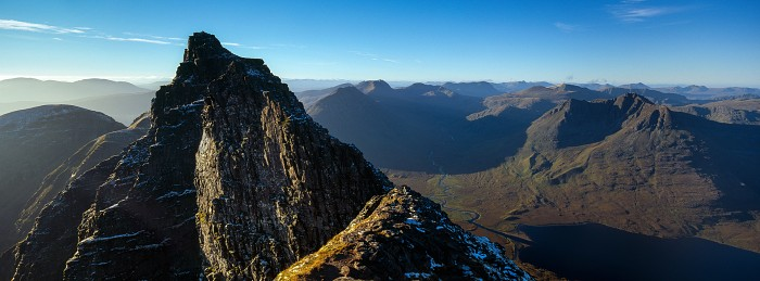 Lord Berkeley's Seat, An Teallach. Hasselblad 30mm. October 2013.