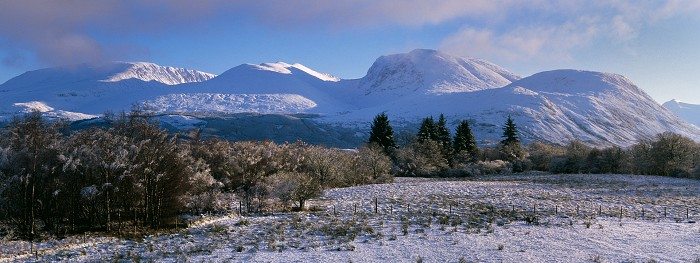 The Nevis Range, Lochaber, Hasselblad Xpan 45mm. December 2008.
