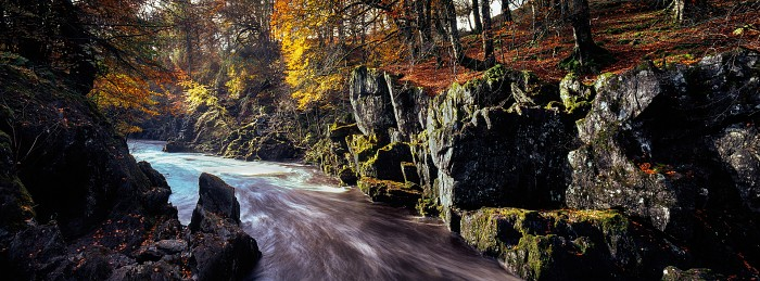 River North Esk, Angus. October 2009. Hasselblad Xpan 30mm