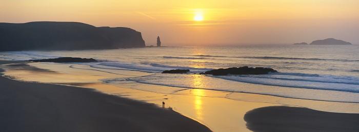 Sandwood Sunset, Sutherland. Hasselblad XPan 90mm. March 2015.