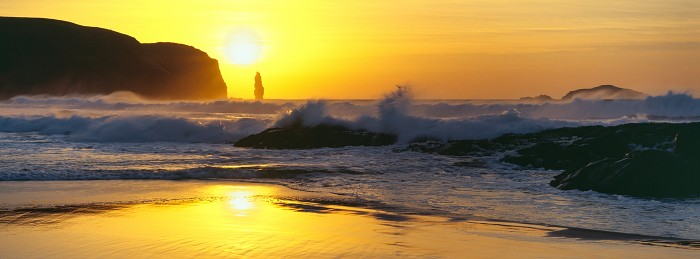 Sandwood Surf, Sandwood Bay, Sutherland. Hasselblad XPan 45mm. March 2015.