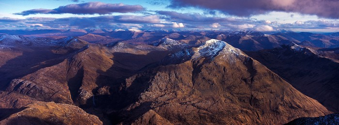 The Ring of Steall, Mamores. Hasselblad Xpan 45mm. April 2017