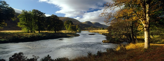 The River Lyon, Glen Lyon. October 2012. Hasselblad XPan 30mm.
